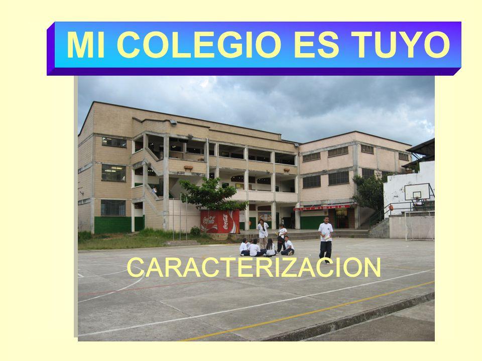CARACTERIZACION MI COLEGIO ES TUYO