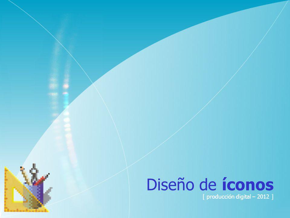 Diseño de íconos [ producción digital – 2012 ]