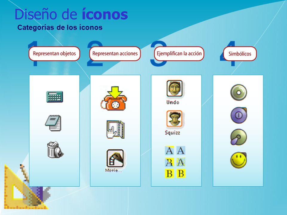 Diseño de íconos Categorías de los íconos
