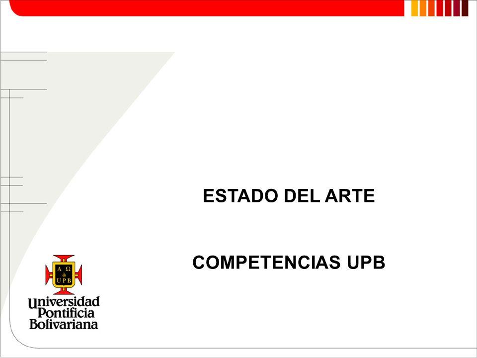 ESTADO DEL ARTE COMPETENCIAS UPB