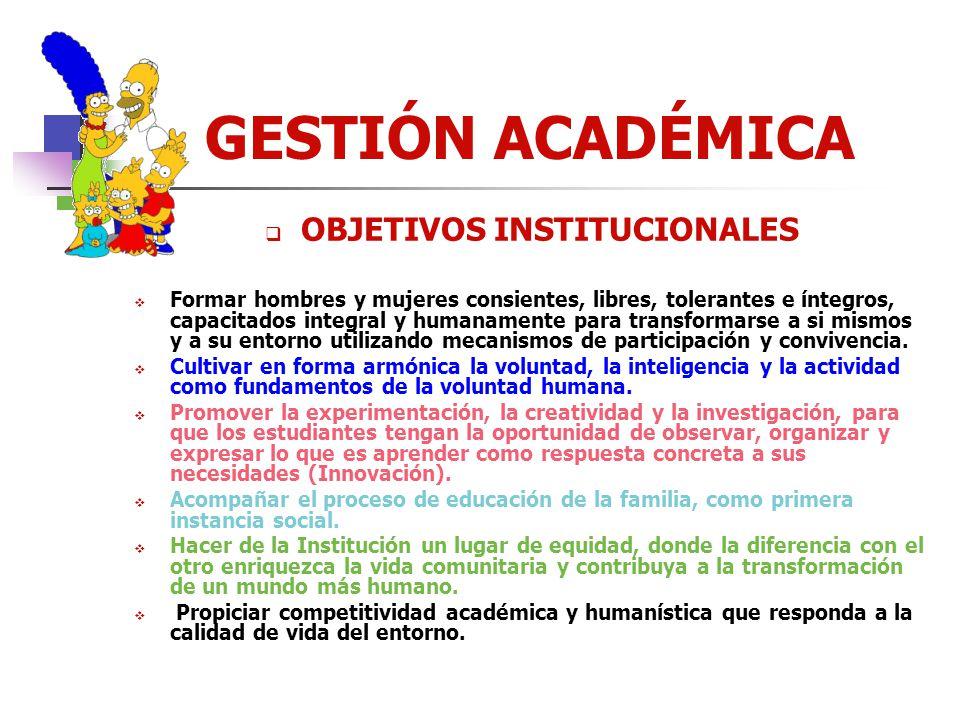 GESTIÓN ACADÉMICA MODELO PEDAGÓGICO PROPÓSITO Nuestra Institución busca participar en la Formación Integral de las personas, desde la adaptación signi