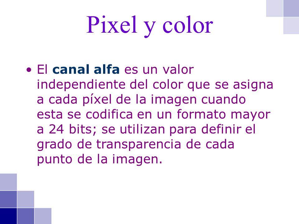 El canal alfa es un valor independiente del color que se asigna a cada píxel de la imagen cuando esta se codifica en un formato mayor a 24 bits; se ut
