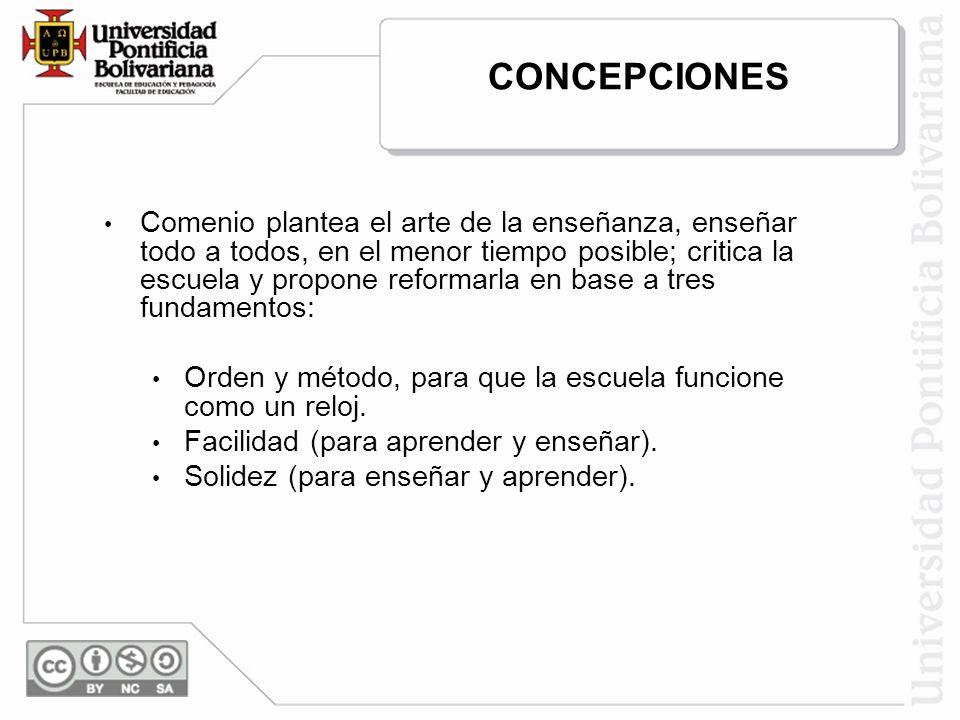 CONCEPCIÓN TECNICISTA E INSTRUMENTAL: Es el saber hacer del maestro que modifica al alumno, aplicando cierto método.