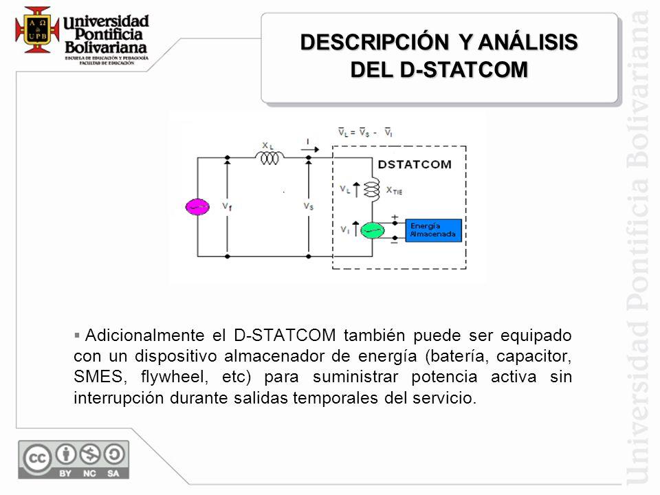 El D-STATCOM opera dentro de un límite inferior de voltaje (V1) y un límite superior de voltaje (V2). Si el voltaje del sistema excede estos límites,