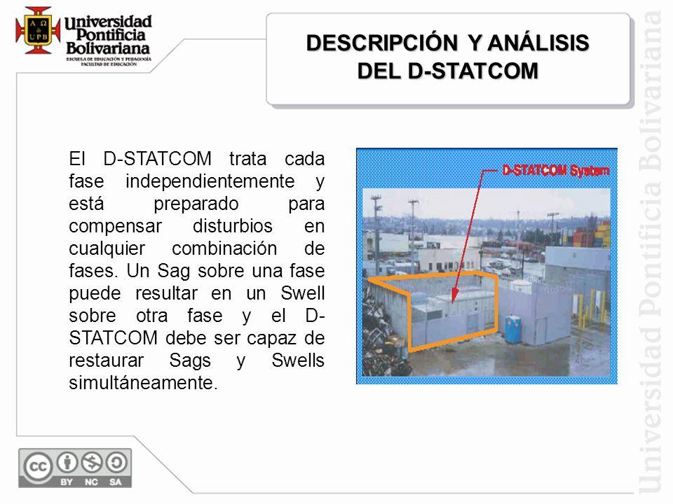 Adicionalmente el D-STATCOM también puede ser equipado con un dispositivo almacenador de energía (batería, capacitor, SMES, flywheel, etc) para sumini