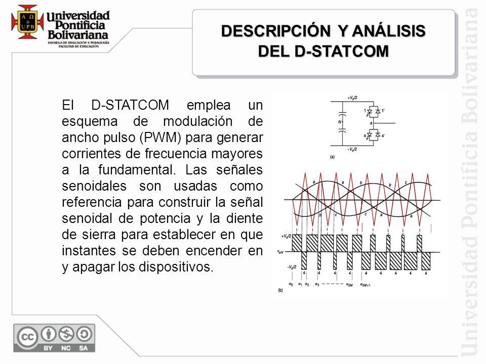 El D-STATCOM trata cada fase independientemente y está preparado para compensar disturbios en cualquier combinación de fases. Un Sag sobre una fase pu