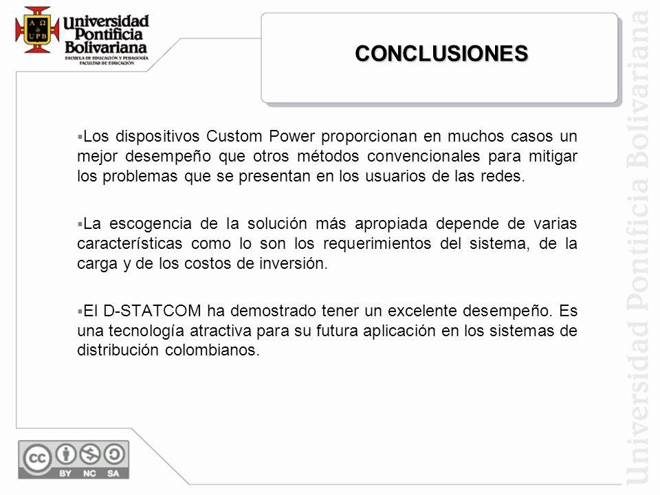 MotorFalla Banc o Estabilización de corriente + banco SIMULACIÓN Y RESULTADOS DEL D-STATCOM (continuación)