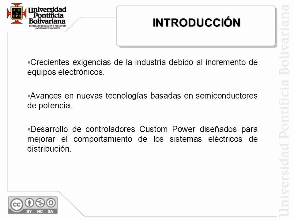 CONTENIDO Introducción. Impacto de las variaciones de voltaje en los sistemas de distribución. Descripción y análisis del compensador estático para di