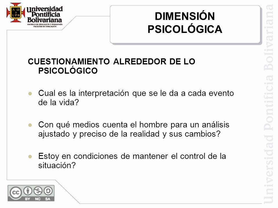 CUESTIONAMIENTO ALREDEDOR DE LO PSICOLÓGICO Cual es la interpretación que se le da a cada evento de la vida.