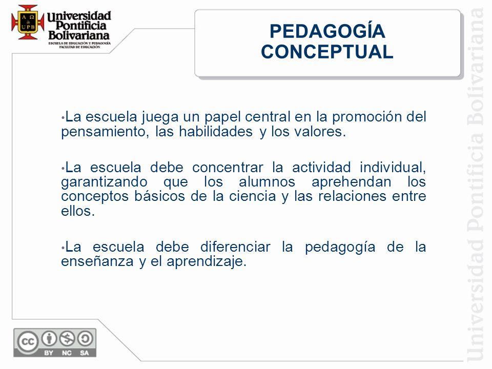 La escuela juega un papel central en la promoción del pensamiento, las habilidades y los valores.