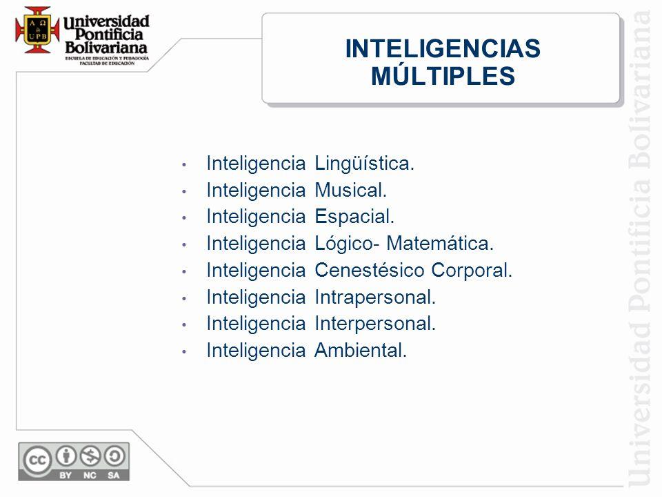 INTELIGENCIAS MÚLTIPLES Inteligencia Lingüística.Inteligencia Musical.