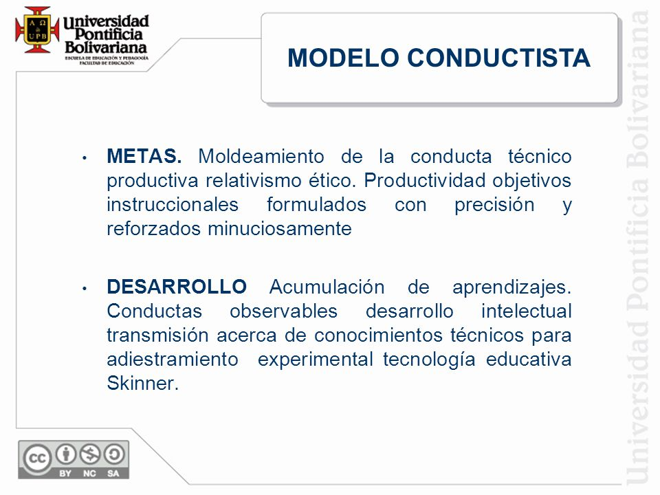 METAS.Moldeamiento de la conducta técnico productiva relativismo ético.