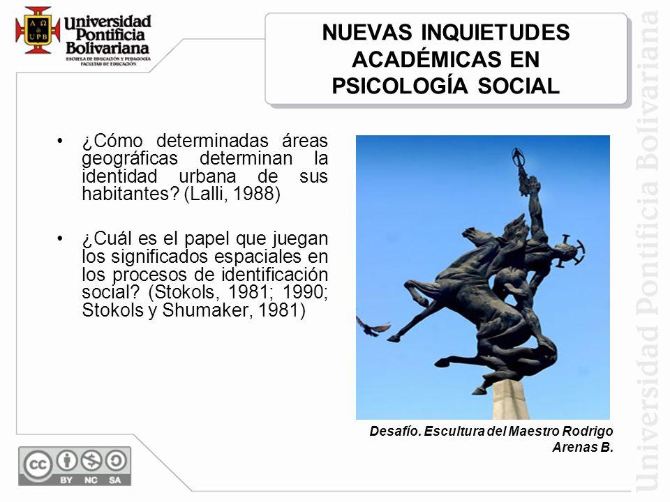 Esquema presentado por Valera y Pol, 1997 RELACIÓN ENTRE ESPACIO SIMBÓLICO URBANO E IDENTIDAD SOCIAL URBANA