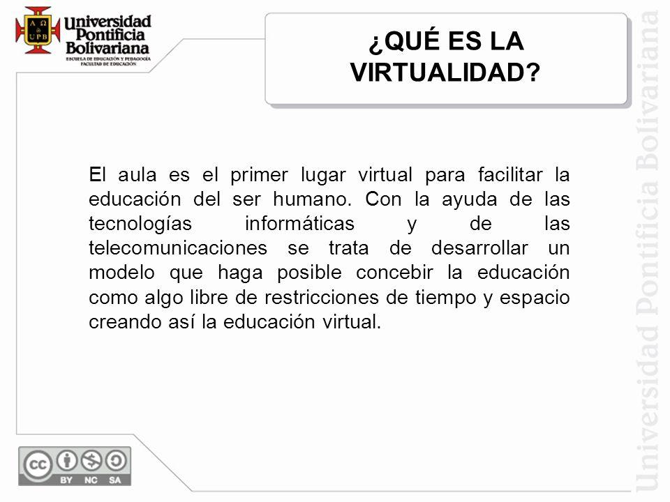 El aula es el primer lugar virtual para facilitar la educación del ser humano. Con la ayuda de las tecnologías informáticas y de las telecomunicacione