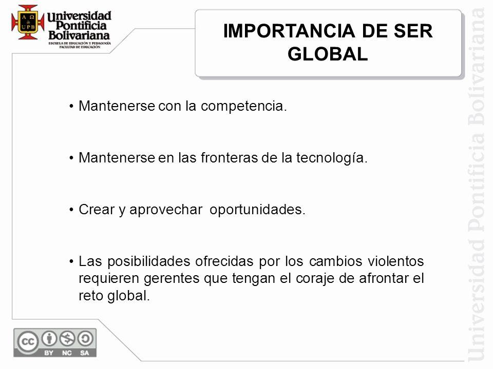 ATRIBUTOS DE LA GLOBALIZACIÓN Nuevo concepto de los negocios en un mundo globalizado.