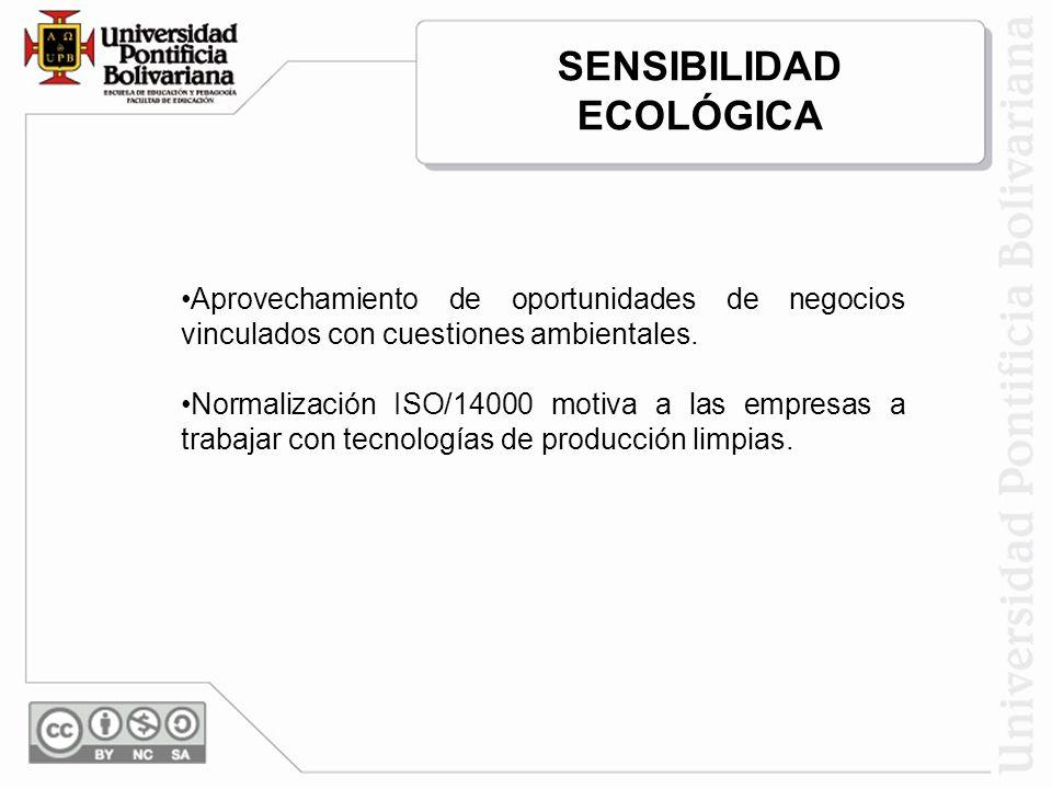 Aprovechamiento de oportunidades de negocios vinculados con cuestiones ambientales. Normalización ISO/14000 motiva a las empresas a trabajar con tecno