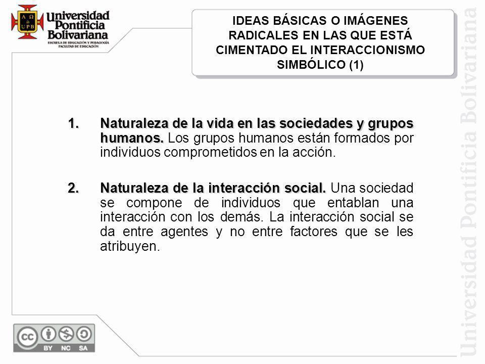 1.Naturaleza de la vida en las sociedades y grupos humanos.
