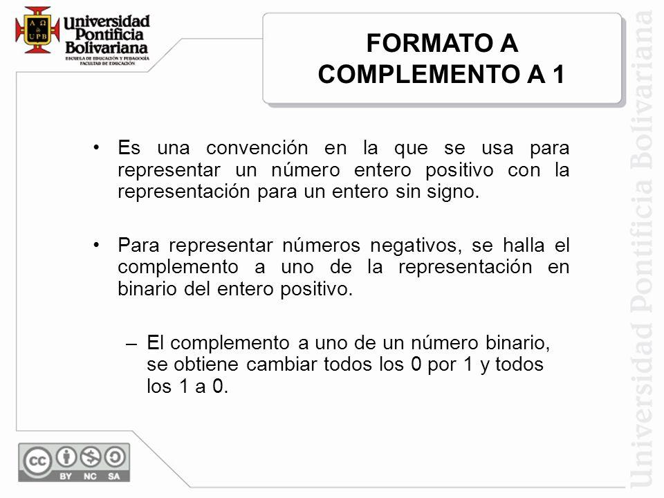 Es una convención en la que se usa para representar un número entero positivo con la representación para un entero sin signo. Para representar números
