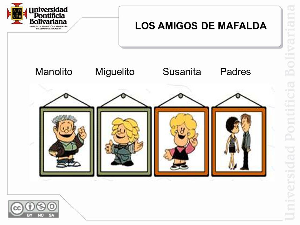 LOS AMIGOS DE MAFALDA ManolitoMiguelitoSusanitaPadres