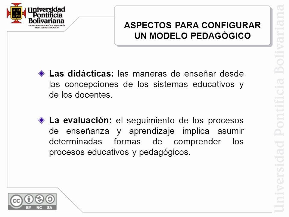 Las didácticas: las maneras de enseñar desde las concepciones de los sistemas educativos y de los docentes. La evaluación: el seguimiento de los proce
