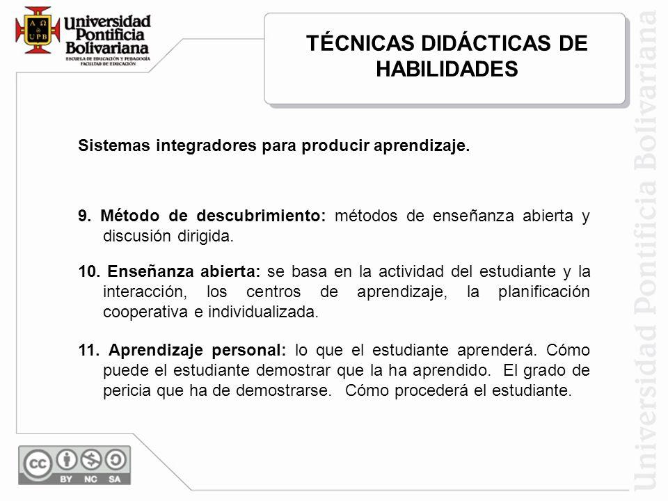 Sistemas integradores para producir aprendizaje.12.