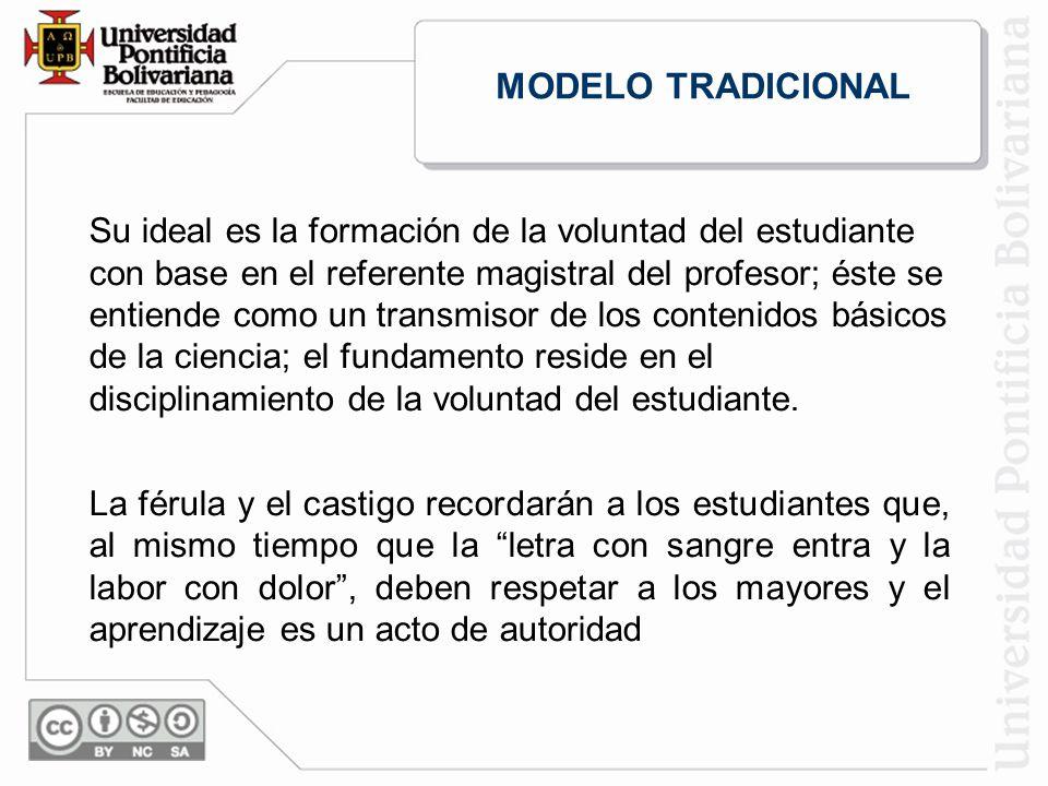 Su ideal es la formación de la voluntad del estudiante con base en el referente magistral del profesor; éste se entiende como un transmisor de los contenidos básicos de la ciencia; el fundamento reside en el disciplinamiento de la voluntad del estudiante.
