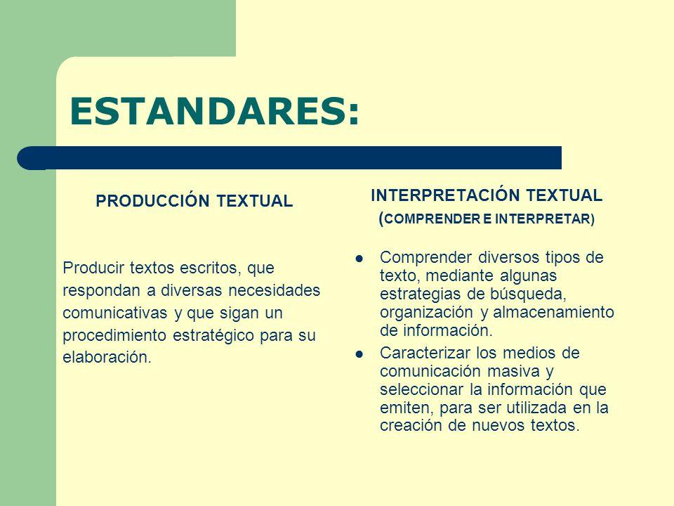 COMPETENCIAS: LENGUA CASTELLANA: COMPETENCIA LITERARIA: Se sensibiliza estéticamente a los estudiantes a través de la lectura, análisis y recreación de obras adecuadas a su edad y a sus intereses.