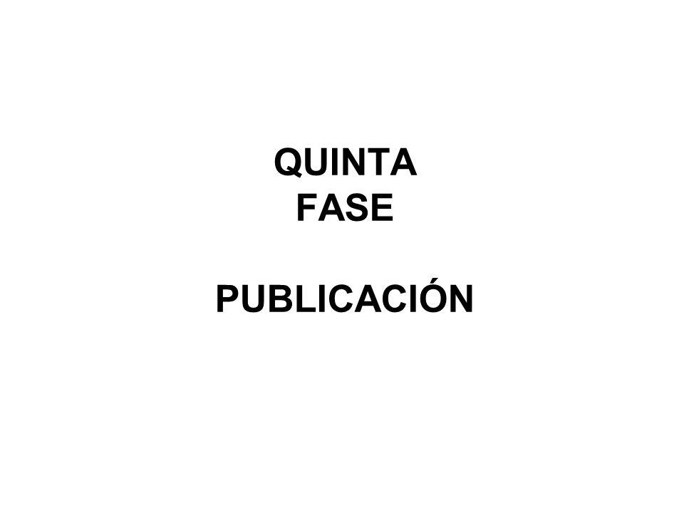 QUINTA FASE PUBLICACIÓN