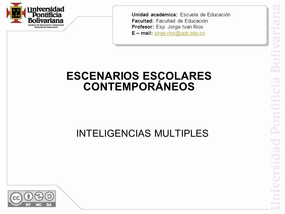 INTELIGENCIAS MULTIPLES Modelo tradicional - modelo conductista Las dos concepciones anteriores sólo pueden pensar la inteligencia desde el concepto de cociente intelectual.