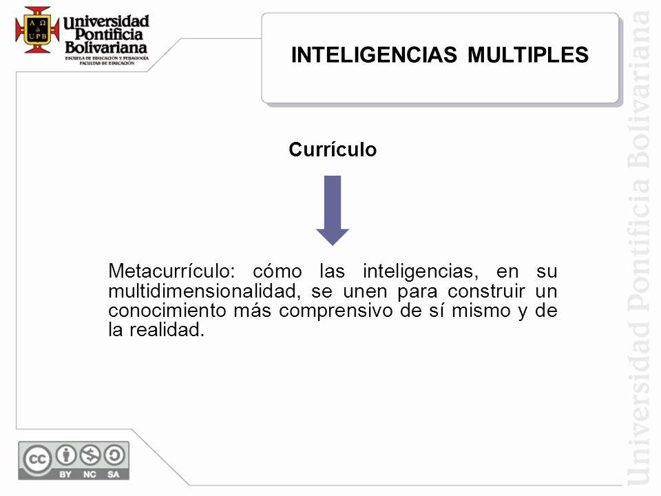 Currículo Metacurrículo: cómo las inteligencias, en su multidimensionalidad, se unen para construir un conocimiento más comprensivo de sí mismo y de l