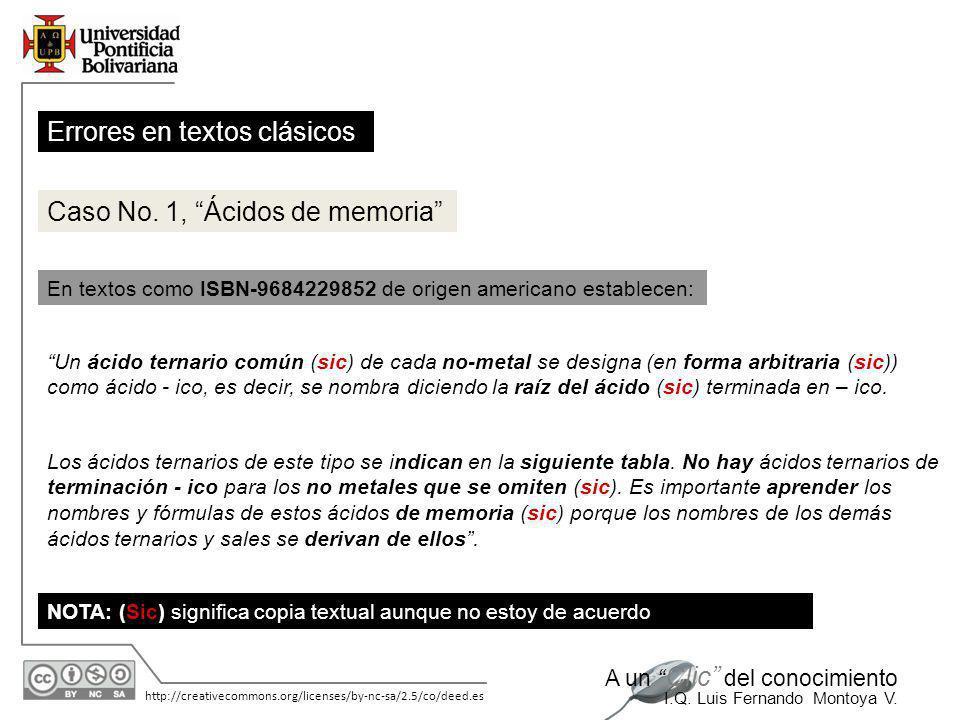 11/06/2014 http://creativecommons.org/licenses/by-nc-sa/2.5/co/deed.es A un Clic del conocimiento I.Q. Luis Fernando Montoya V. APÉNDICE Justificación