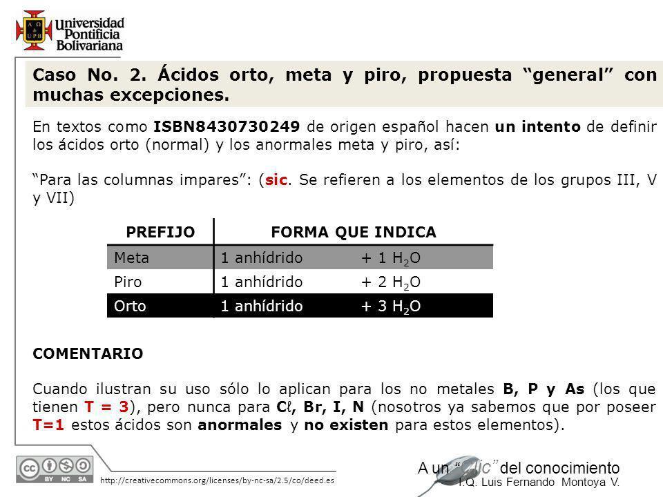 11/06/2014 http://creativecommons.org/licenses/by-nc-sa/2.5/co/deed.es A un Clic del conocimiento I.Q. Luis Fernando Montoya V....y continúa el texto: