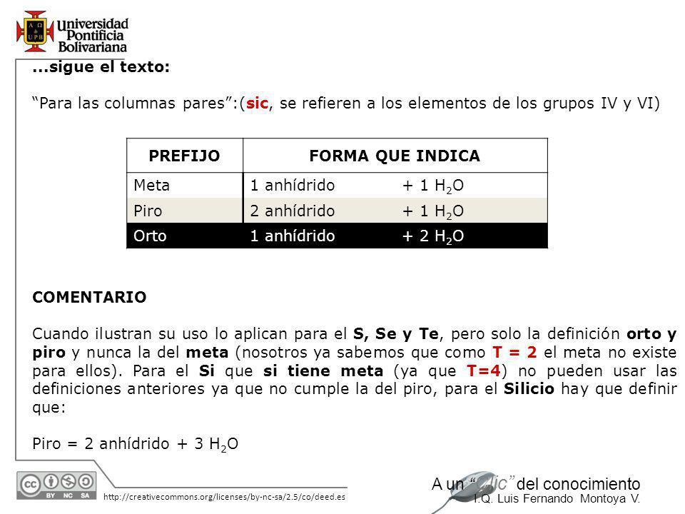 11/06/2014 http://creativecommons.org/licenses/by-nc-sa/2.5/co/deed.es A un Clic del conocimiento I.Q. Luis Fernando Montoya V. Caso No. 2. Ácidos ort