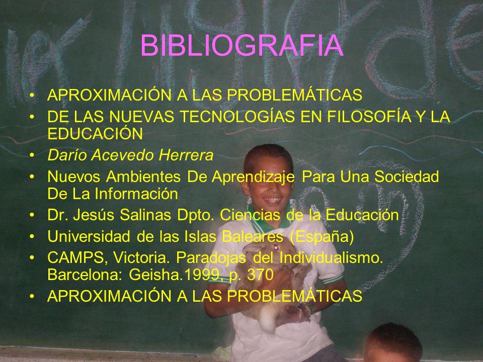 BIBLIOGRAFIA APROXIMACIÓN A LAS PROBLEMÁTICAS DE LAS NUEVAS TECNOLOGÍAS EN FILOSOFÍA Y LA EDUCACIÓN Darío Acevedo Herrera Nuevos Ambientes De Aprendiz