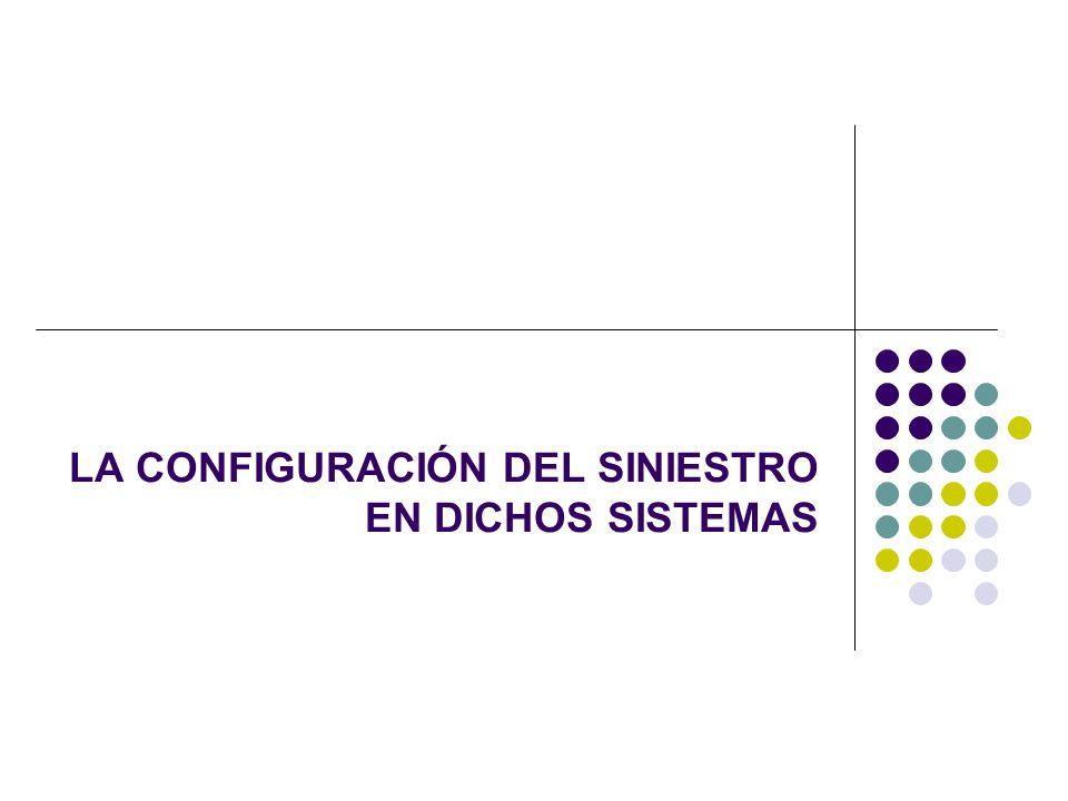 LA CONFIGURACIÓN DEL SINIESTRO EN DICHOS SISTEMAS