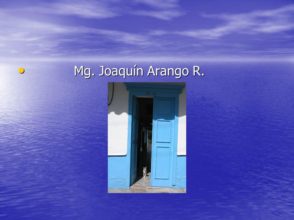 Mg. Joaquín Arango R. Mg. Joaquín Arango R.