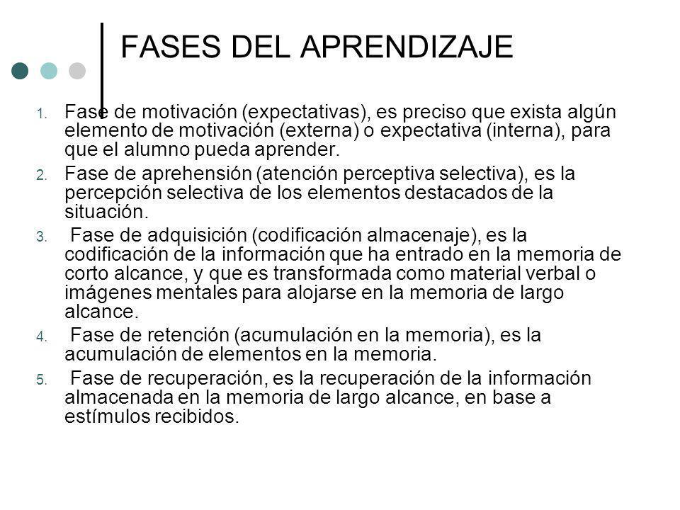 FASES DEL APRENDIZAJE 6.