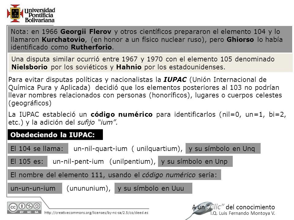 11/06/2014 http://creativecommons.org/licenses/by-nc-sa/2.5/co/deed.es A un Clic del conocimiento I.Q. Luis Fernando Montoya V. Nota: en 1966 Georgii
