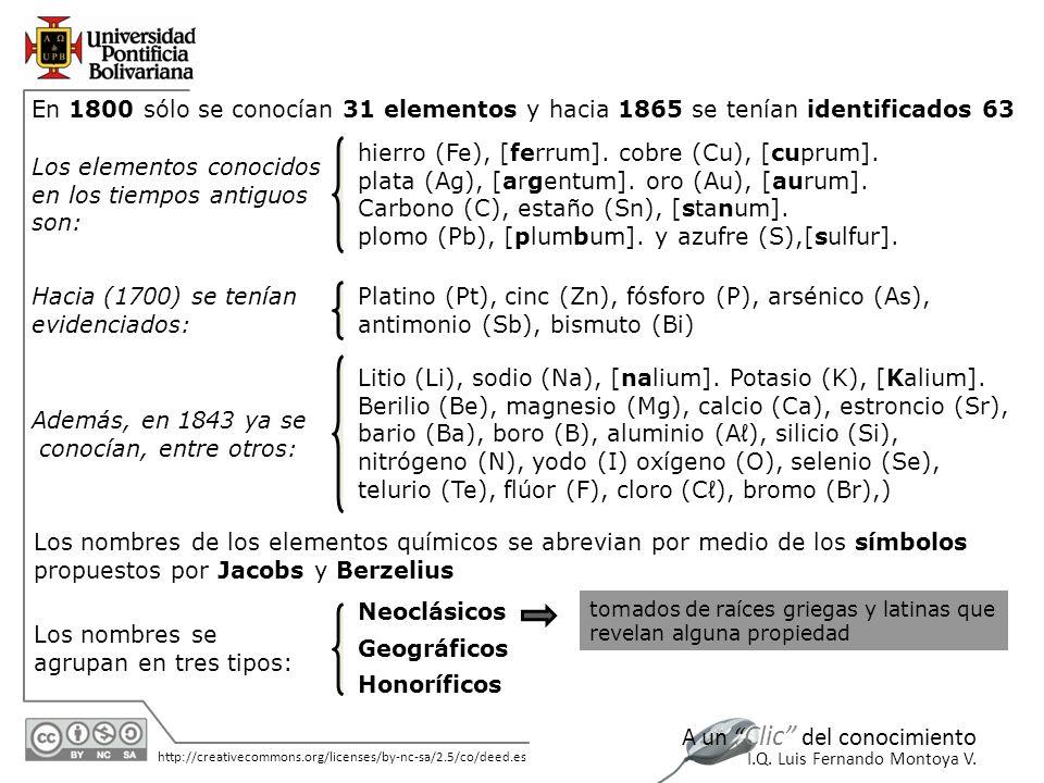 11/06/2014 http://creativecommons.org/licenses/by-nc-sa/2.5/co/deed.es A un Clic del conocimiento I.Q.