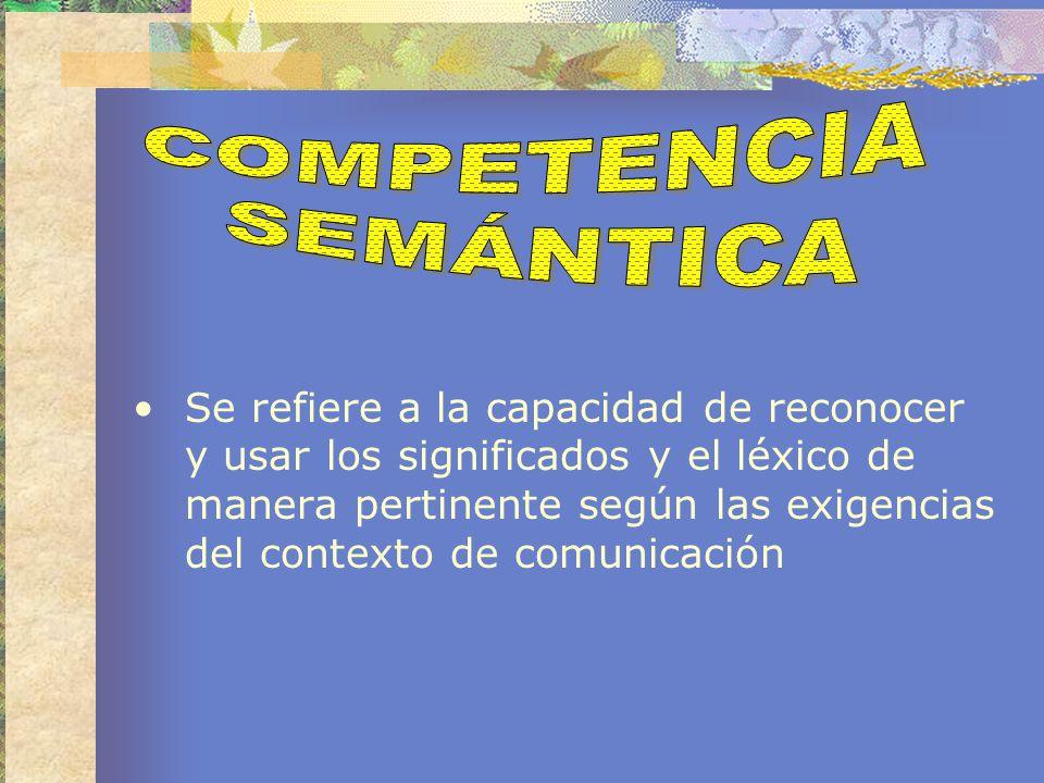 Se refiere a mecanismos que garantizan cohesión y coherencia a los enunciados, se asocia también el aspecto estructural del discurso.