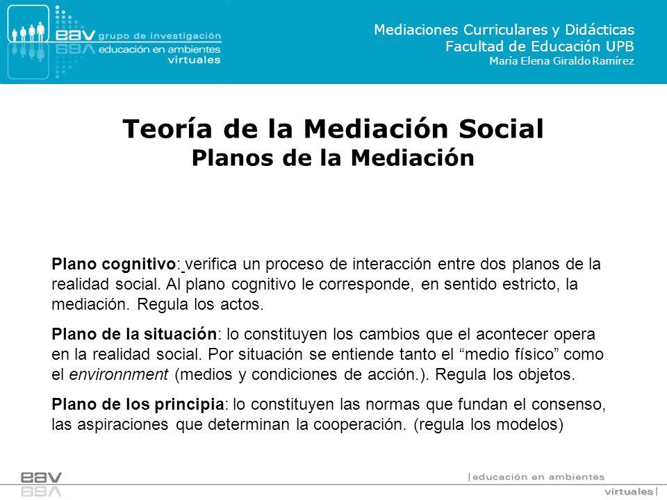 Plano cognitivo: verifica un proceso de interacción entre dos planos de la realidad social.