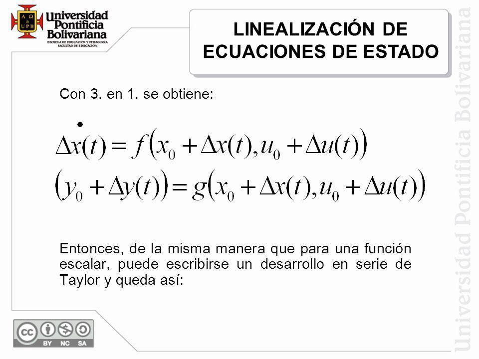 Con 3. en 1. se obtiene: Entonces, de la misma manera que para una función escalar, puede escribirse un desarrollo en serie de Taylor y queda así: LIN