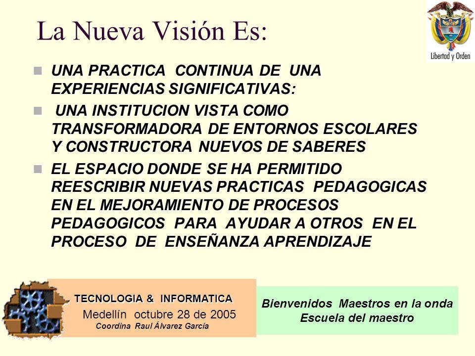 TECNOLOGIA & INFORMATICA Medellín octubre 28 de 2005 Coordina Raul Álvarez García Bienvenidos Maestros en la onda Escuela del maestro LISTA DE MATERIALES SALA DE TECNOLOGIA EL TANGRAM LOS PENTOMINOS EL CUBO DE SOMA LAS TORRES DE HANOI RELAJADOR MENTAL LOS CUBOS LOS ABACOS ALGEBRA GEOMETRICA LA TORRES FANTASTICAS LOS CIRCULOS FRACCIONARIOS LOS AJEDREZ LAS REGLETAS LOS GEOPLANOS MATERIAL LEGODATA