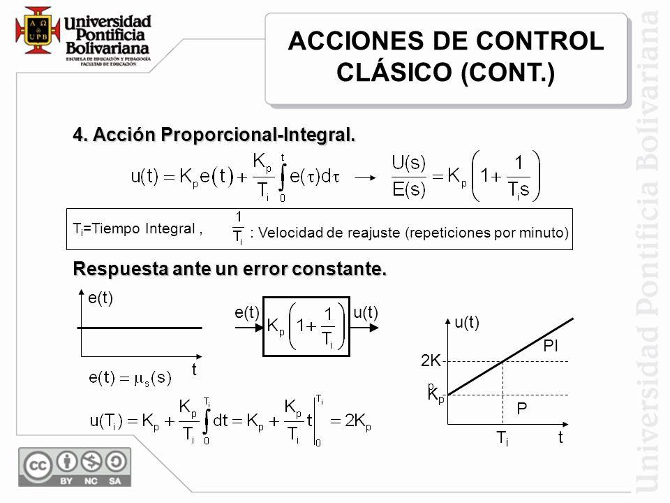 5.Acción Proporcional Derivativa. Acción Derivativa: Control de velocidad.