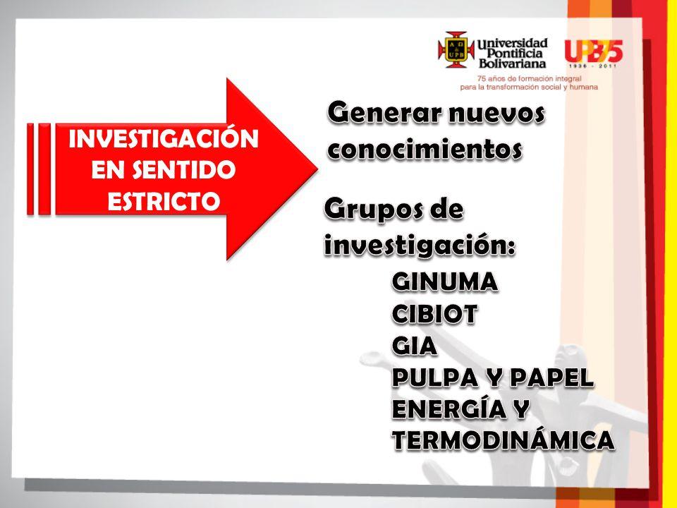 INVESTIGACIÓN EN SENTIDO ESTRICTO INVESTIGACIÓN EN SENTIDO ESTRICTO