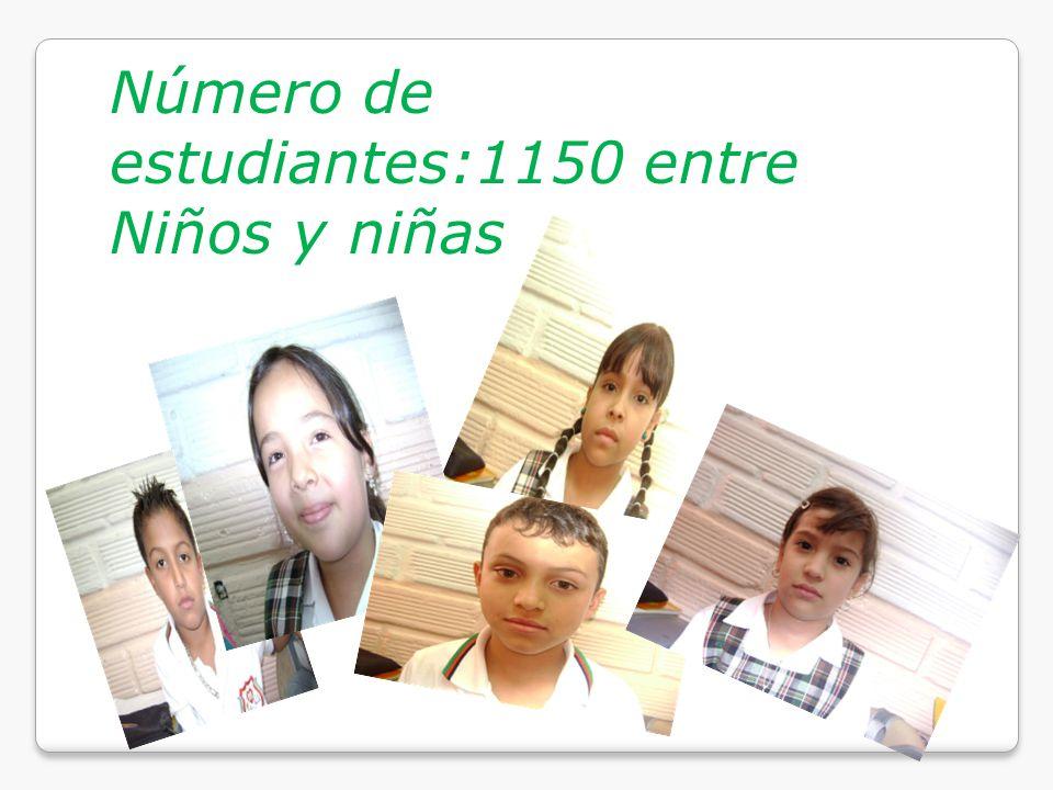 Número de estudiantes:1150 entre Niños y niñas