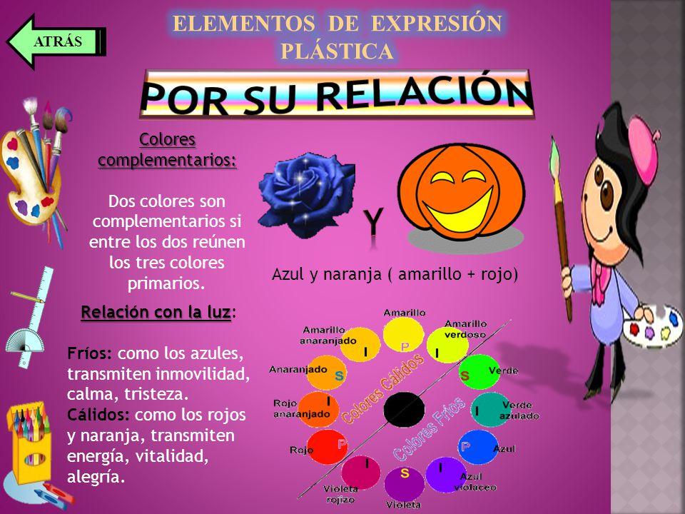 Colores complementarios: Dos colores son complementarios si entre los dos reúnen los tres colores primarios.