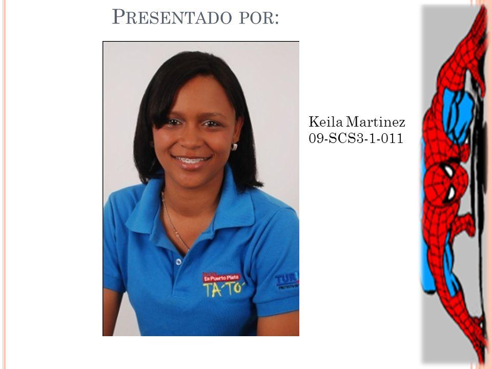 P RESENTADO POR : Keila Martinez 09-SCS3-1-011