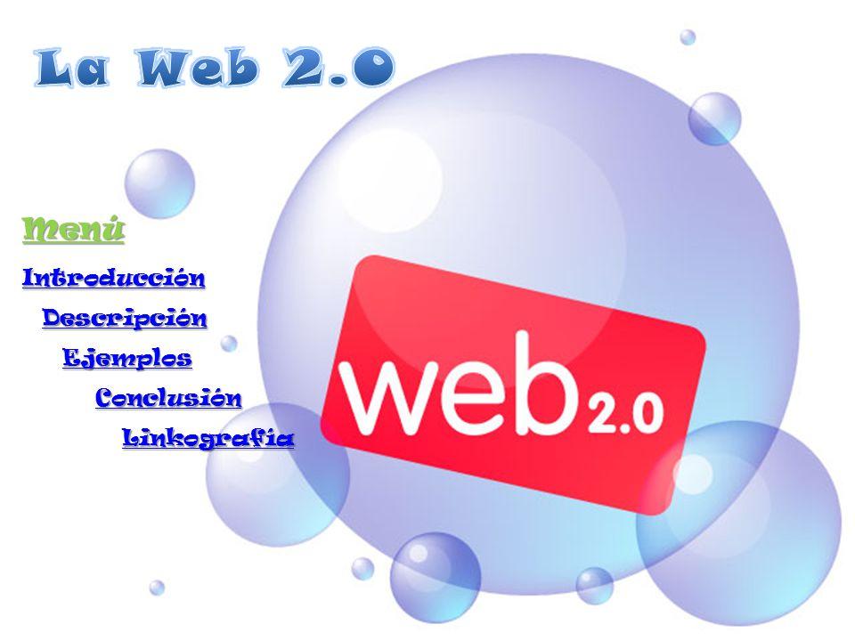 Introducción: El concepto original del contexto, llamado Web 1.0 era páginas estáticas HTML que no eran actualizadas frecuentemente.