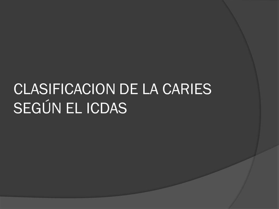 CLASIFICACION DE LA CARIES SEGÚN EL ICDAS